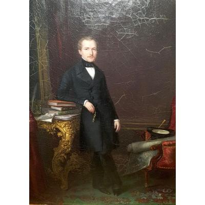 Anne Nicole Voullemier, Portrait Of Henri Goffart, 1847. Oil On Canvas.