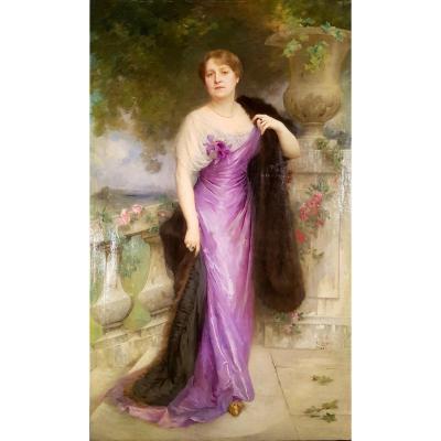 Charles Amable Lenoir, 1914, Portrait Of A Woman (207cm X 128cm)