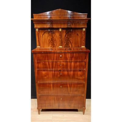 Mahogany Chiffonnier Cabinet, Biedermeier Period Circa 1820. (188cm X 94cm).