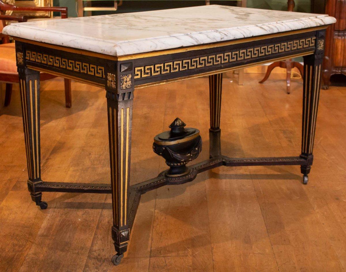 Table De Milieu De Style Louis XVI. XIXème Siècle