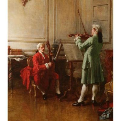 Le concert par Benjamin Eugène Fichel 1875