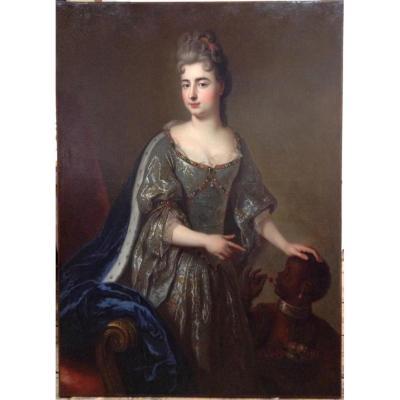 Portrait de Mademoiselle de Nantes, XVII ème.