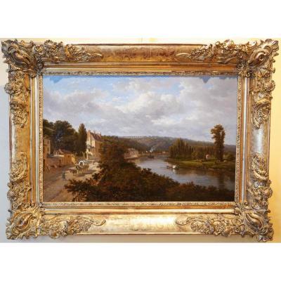 La Seine à Louveciennes, Par Victor De Grailly ( 1804-1887 )