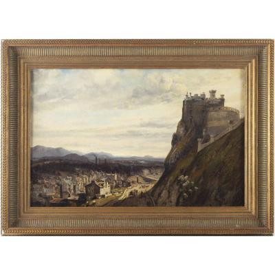 Edimbourg, Vue Du Château. Frédéric Bourgeois De Mercey (1805-1860).