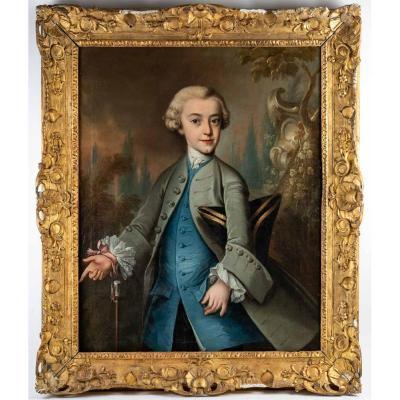 JFP Hauck. Portrait d'Un Gentilhomme 1755.