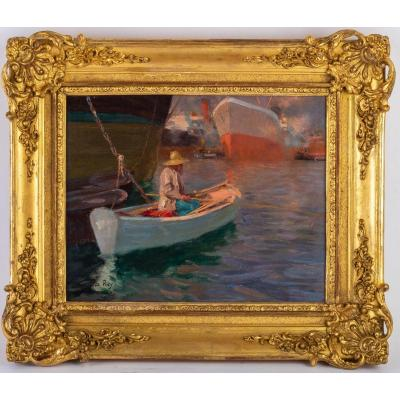 Jacques Marie Omer Camoreyt 1871-1963. Pêcheur Au Port.
