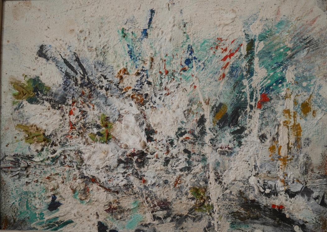Abstraction lyrique vers 1960 huile sur toile tableaux for Abstraction lyrique