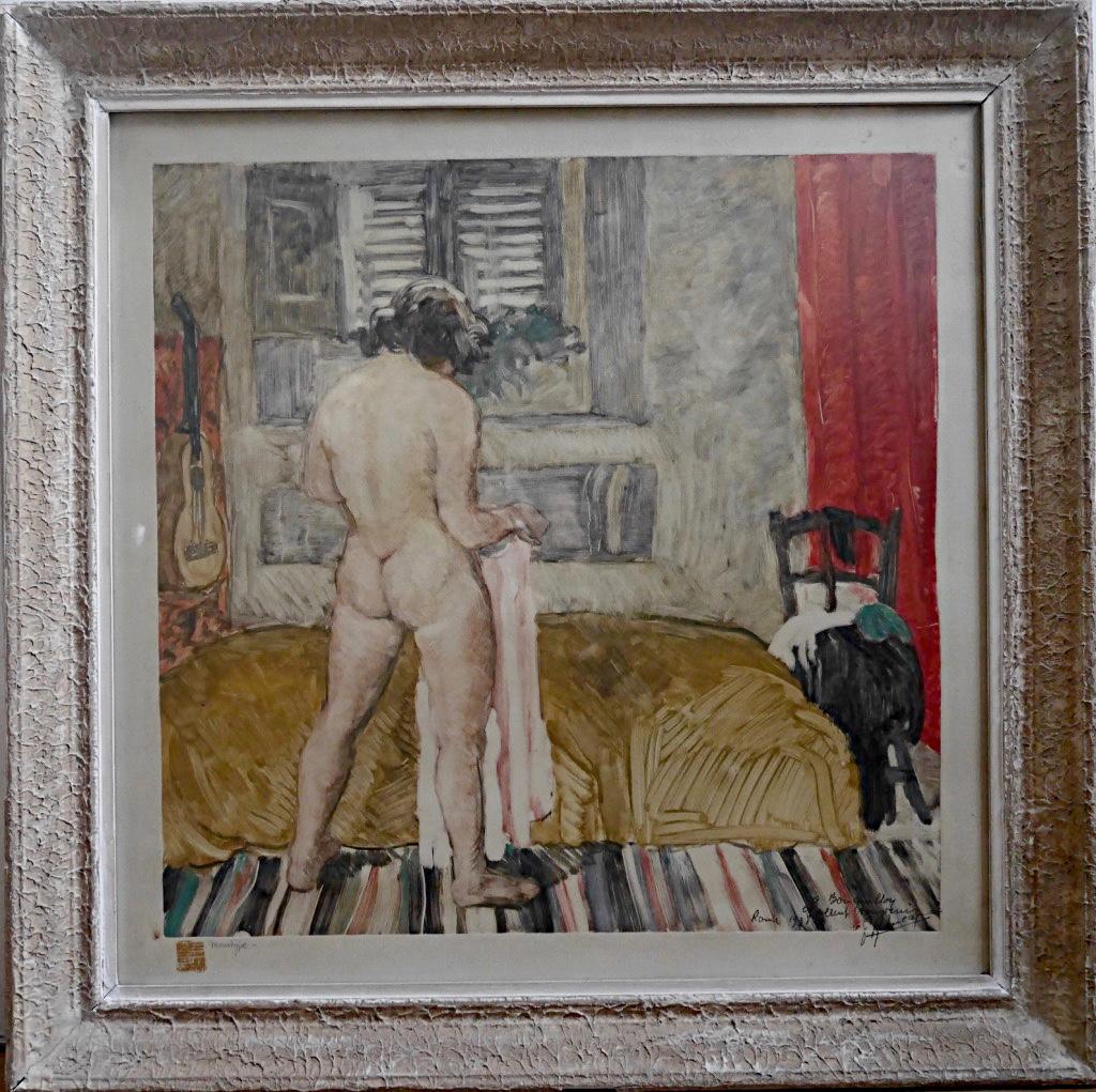 Pierre Robert Lucas Monotype Nude Woman In An Interior Prix De Rome Engraving-photo-3