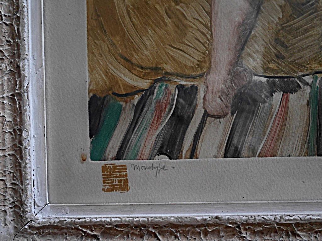 Pierre Robert Lucas Monotype Nude Woman In An Interior Prix De Rome Engraving-photo-1