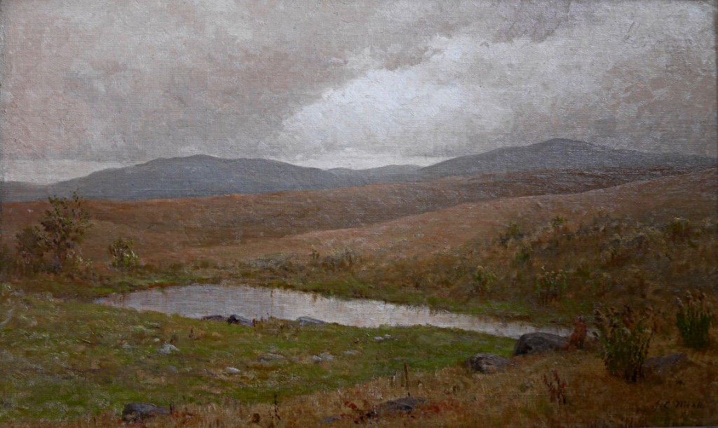 James Craig Nicoll Lake Placid New York Paysage Des Etats-unis Peintre Américain 1903