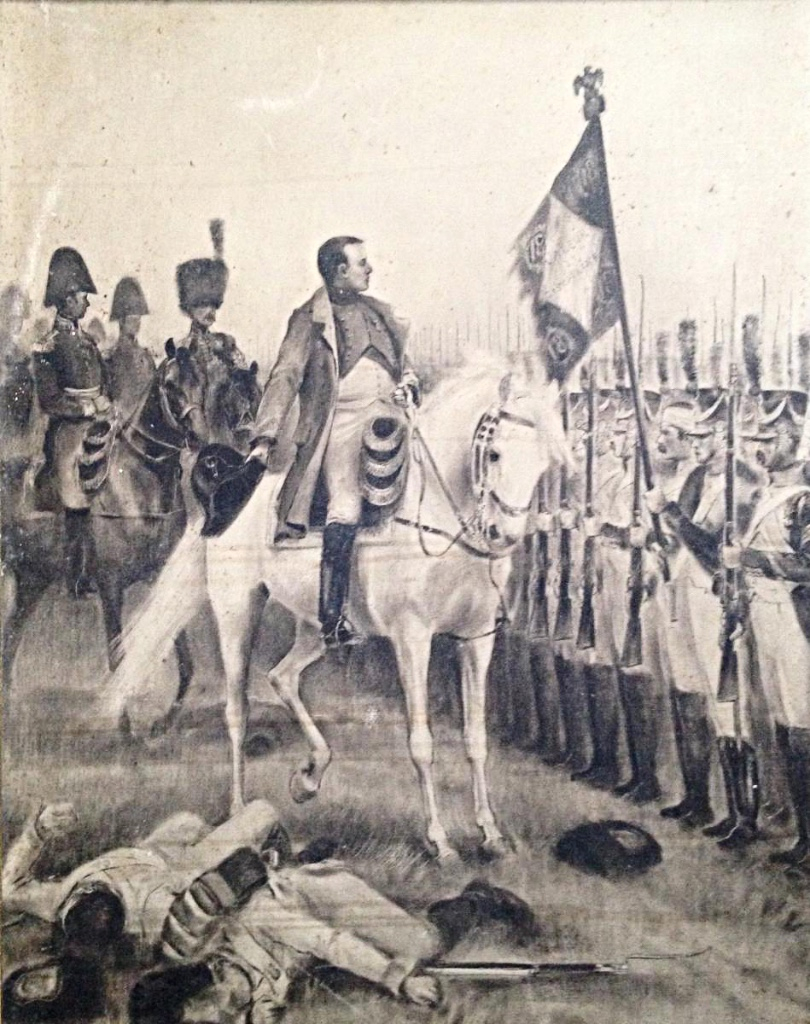 Jules Rouffet Inspection Troops By Napoleon On Horse After The Battle Of Friedland