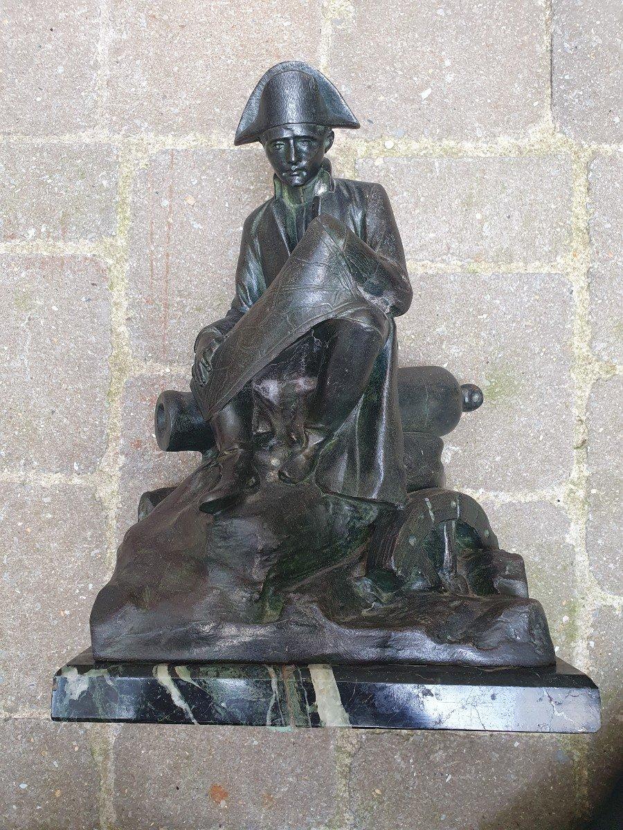 Napoléon Ier Assis Observant Une Carte Par Salesio Régule Patine Bronze