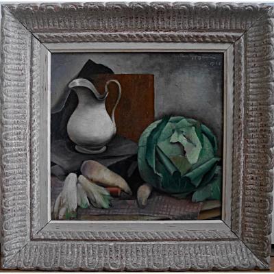 Kristian Oppegaard Nature Morte Cubiste 1925 Elève André Lhote Ecole Paris