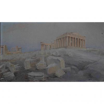 André Brouillet Acropolis Preparatory Study For The Parthenon Athens Greece Renan