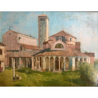 Île de Torcello Venise par Cornelis Ary Renan Vue Italie 1880 Cathédrale