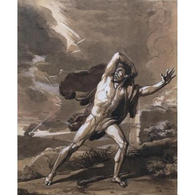 The Remaint Of Cain Jean Baptiste Biscarra 1817 Preparatory Drawing