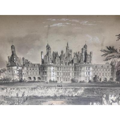 Animated View Of The Chambord Castle Drawing At The 1850 Lead Mine