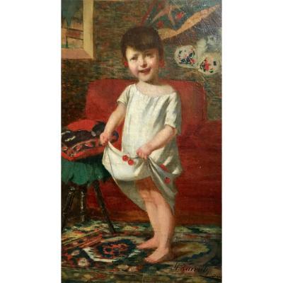 Mor Karvaly Jeune Fille Aux Cerises Dans Un Intérieur Vers 1890