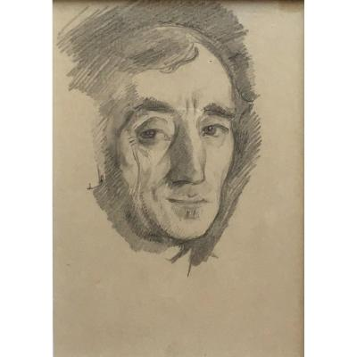 Théo Van Rysselberghe Self-portrait Drawing Pencil Belgian Painter