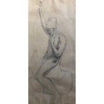 Georges Washington Arab Preparatory Drawing On Horseback Orientalism XIXth
