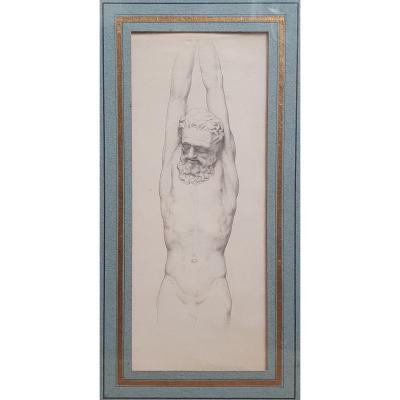Camille Bellanger Marsyas Nineteenth Drawing After The Antique