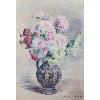 Madeleine Lemaire Still Life With Flowers From The End Of The XIXth Century Watercolor