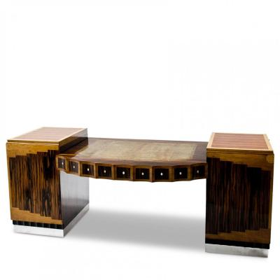 Art Deco Executive Desk, France Ca. 1920