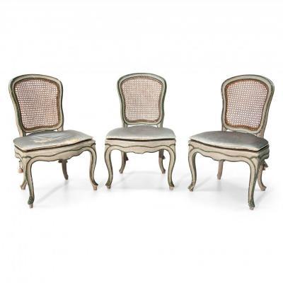 Trois Chaises Louis Quinze, XVIIIe Siècle