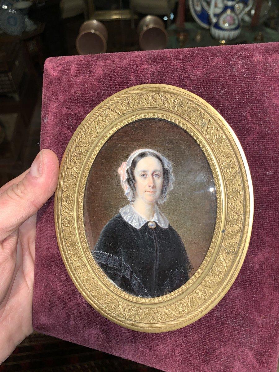 Miniature Portrait Of Woman Ers 1830