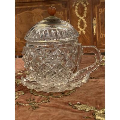 Tasse Sous Tasse En Cristal Marché Ottoman Fin Du 19e Siècle
