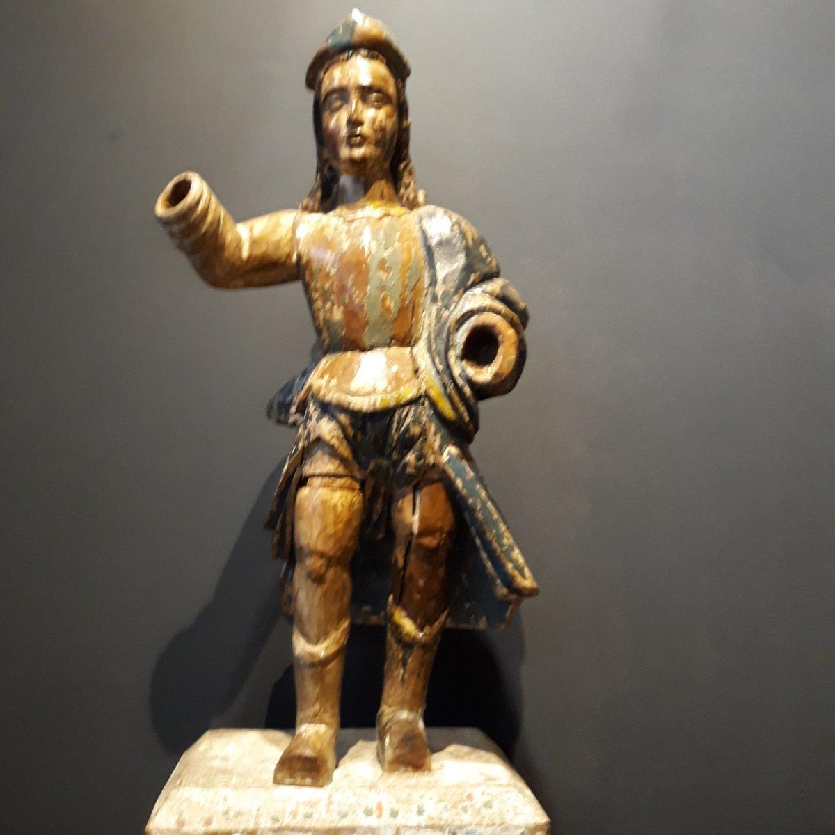 Sculpture Espagnole d'Un Conquistador-photo-2