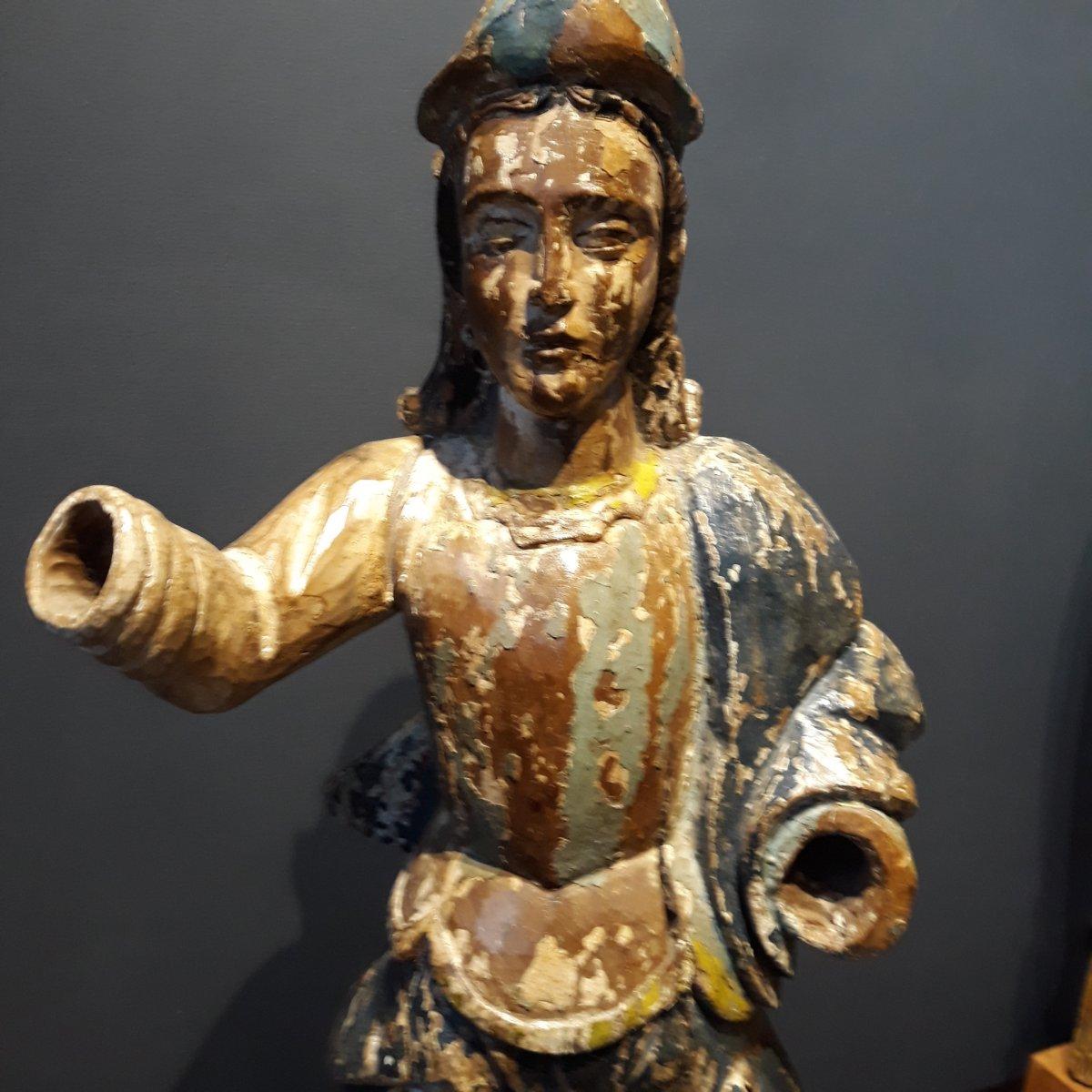 Sculpture Espagnole d'Un Conquistador-photo-3