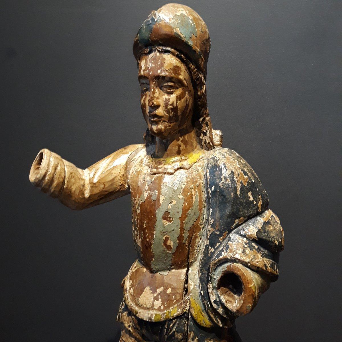 Sculpture Espagnole d'Un Conquistador-photo-4
