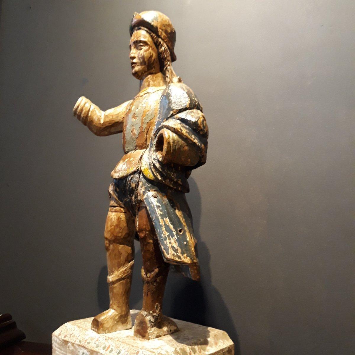 Sculpture Espagnole d'Un Conquistador