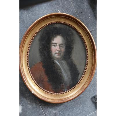 Portrait d'un homme noble ,fin XVII début du  XVIII siècle.