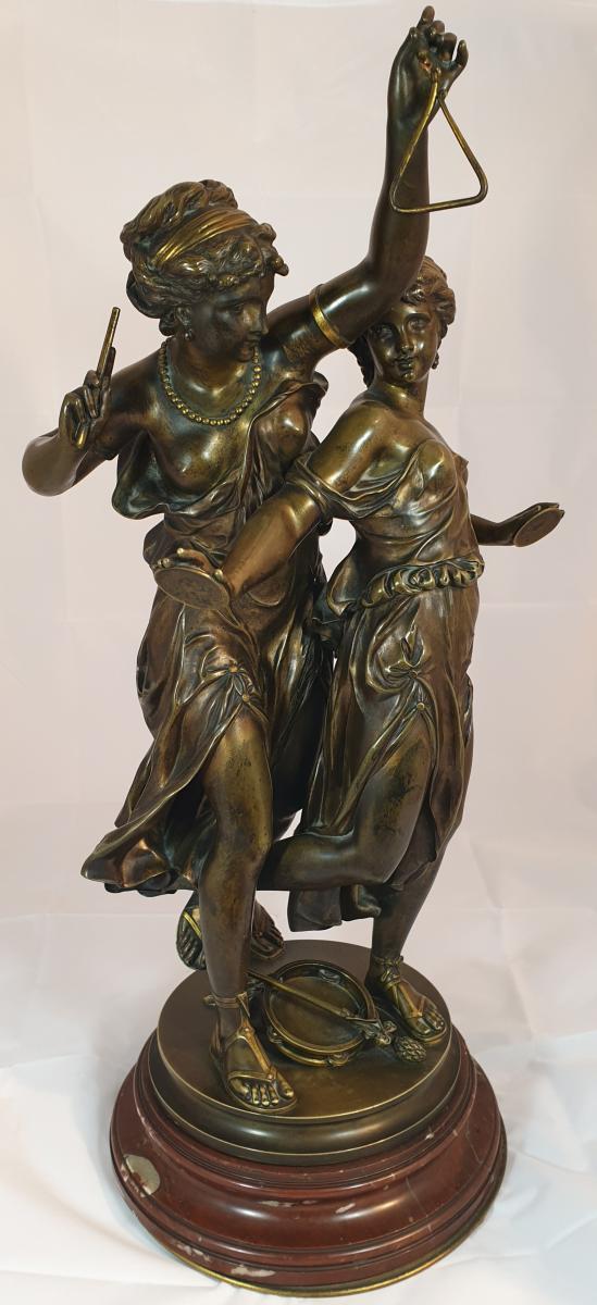 Bronze Sur Socle Tournant