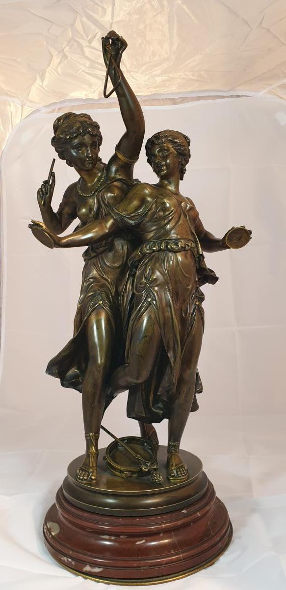 Bronze Sur Socle Tournant-photo-2