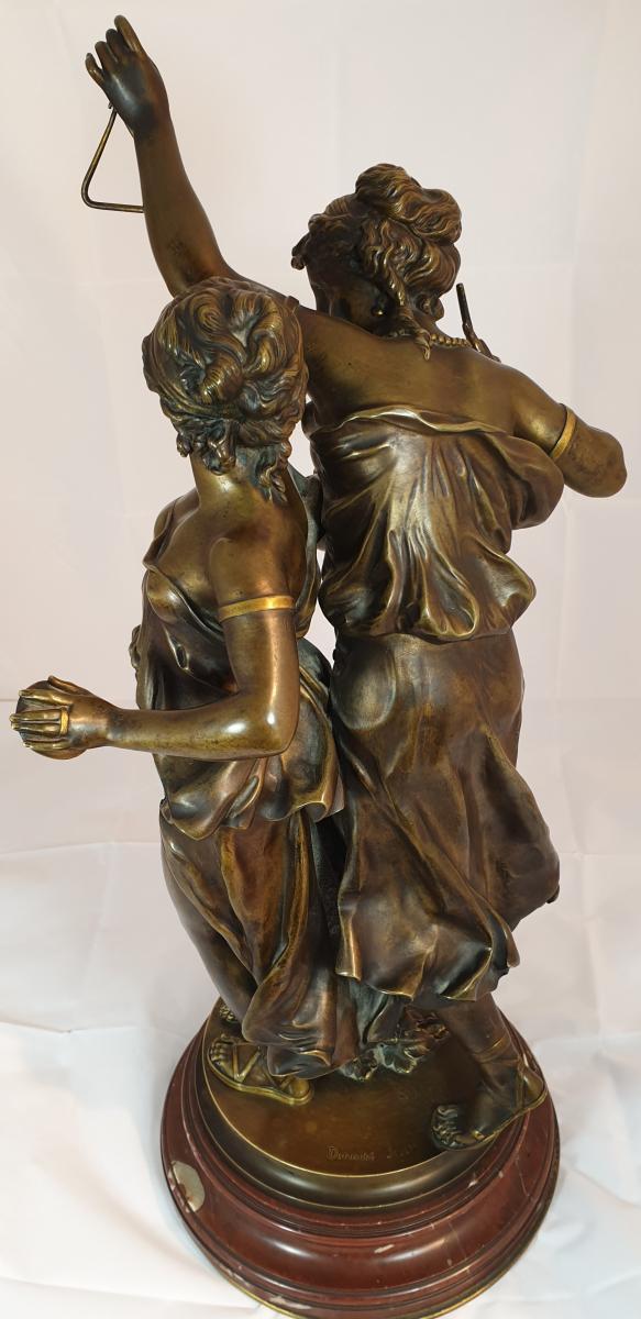 Bronze Sur Socle Tournant-photo-3