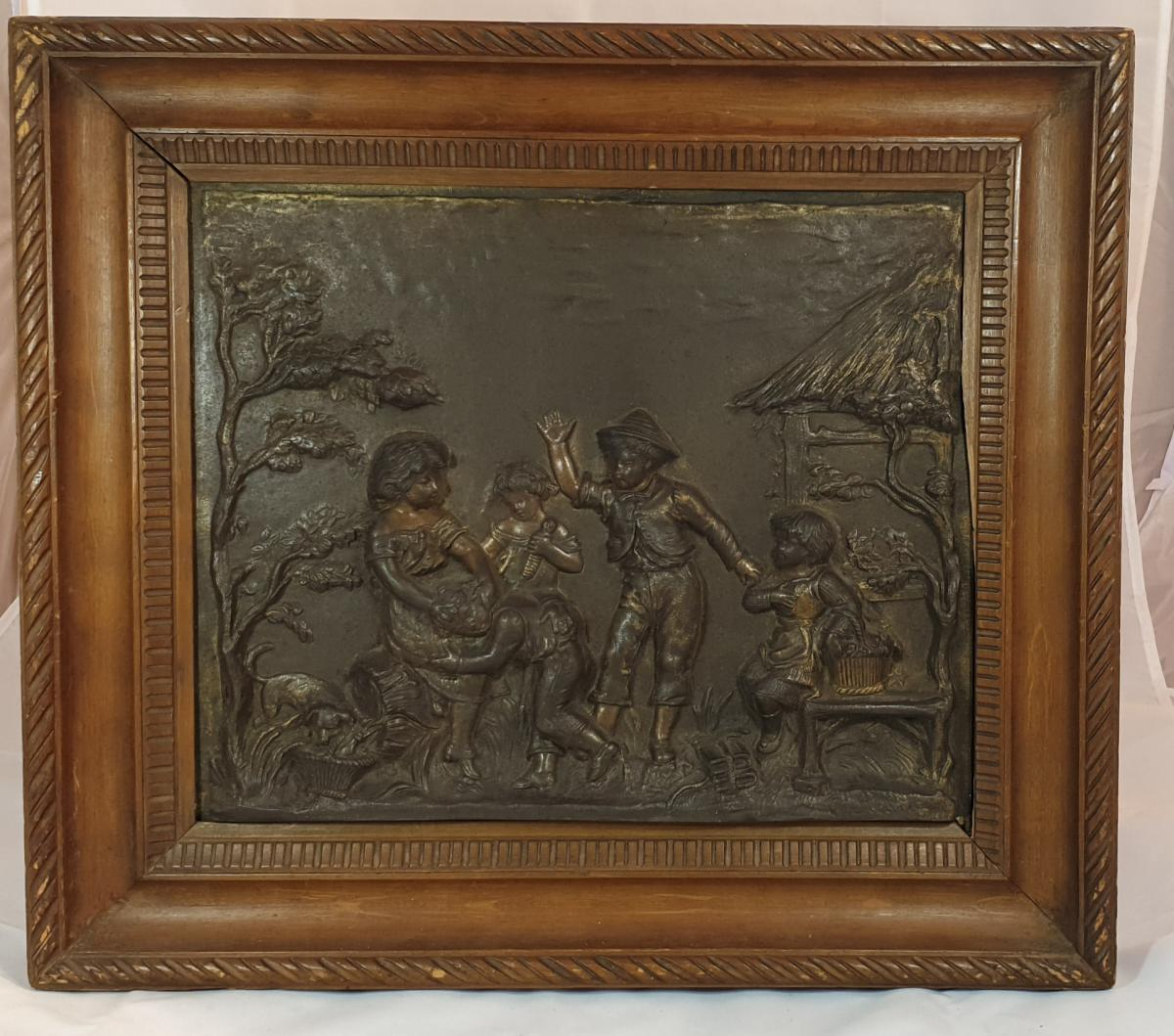Pair Of Bronze Panels