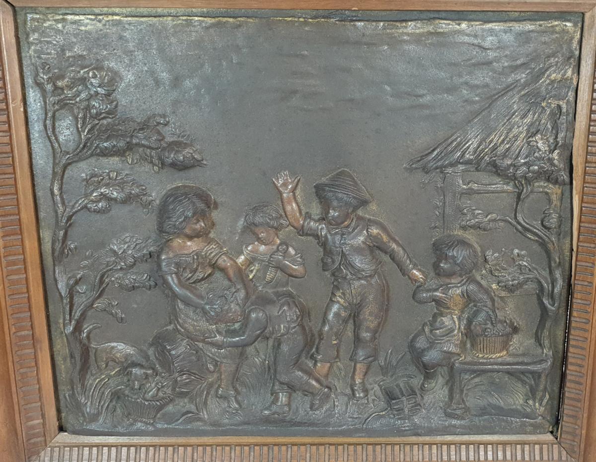 Paire De Panneaux Bronze -photo-2