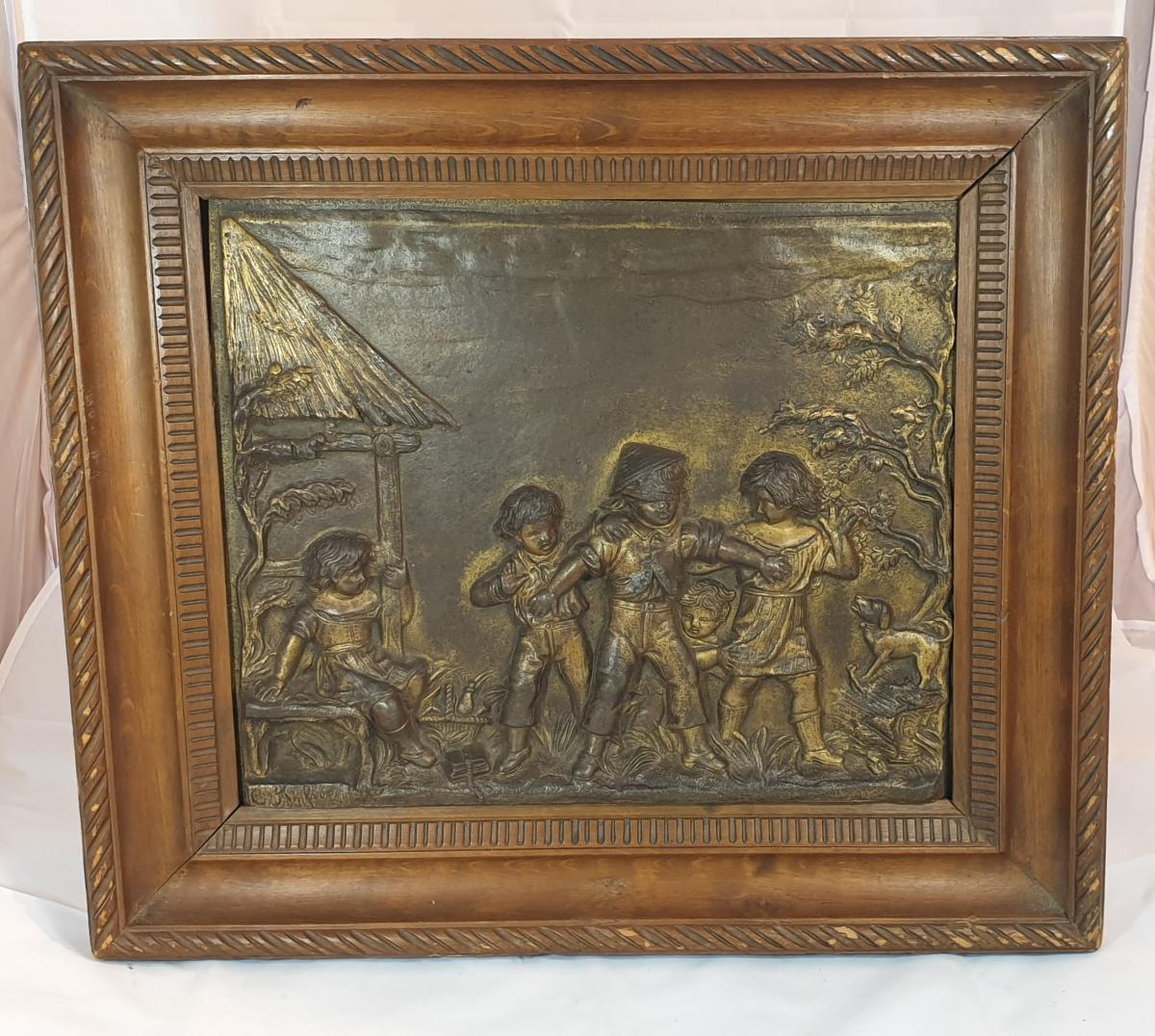 Paire De Panneaux Bronze -photo-4