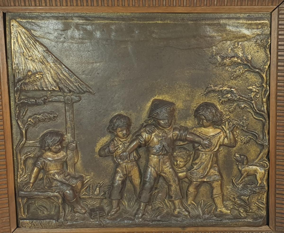 Paire De Panneaux Bronze -photo-1