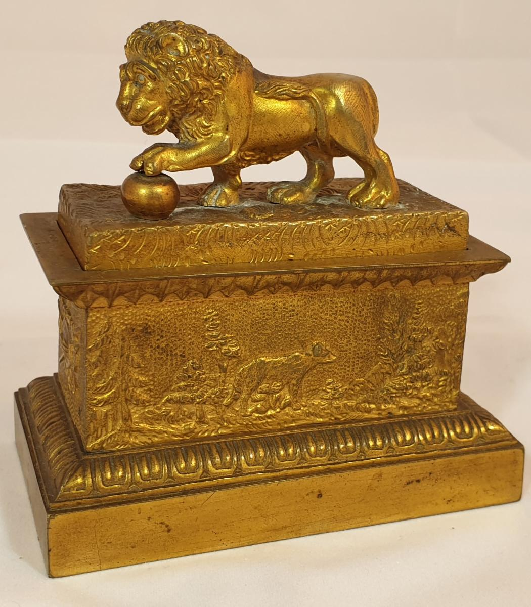 Lion Inkwell