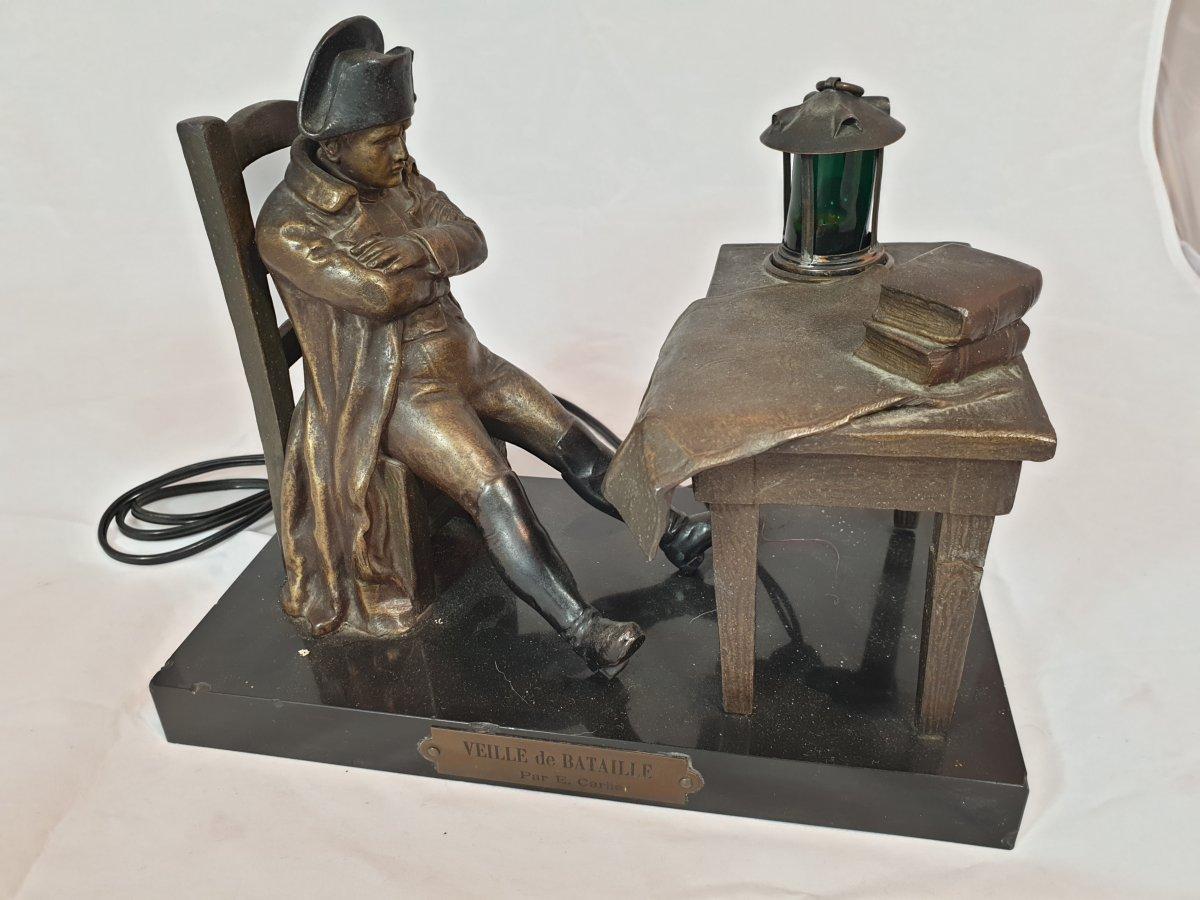Lampe Napoléon En Régule Et Marbre