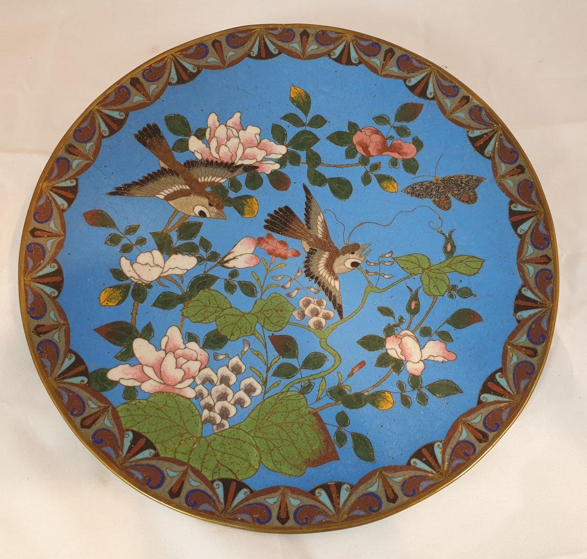 Assiette Fleur Et Oiseau