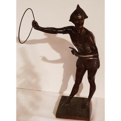 Sculpture Man In Hoop