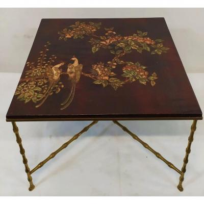 Rings Coffee Table With Chinese Lacquer Panel