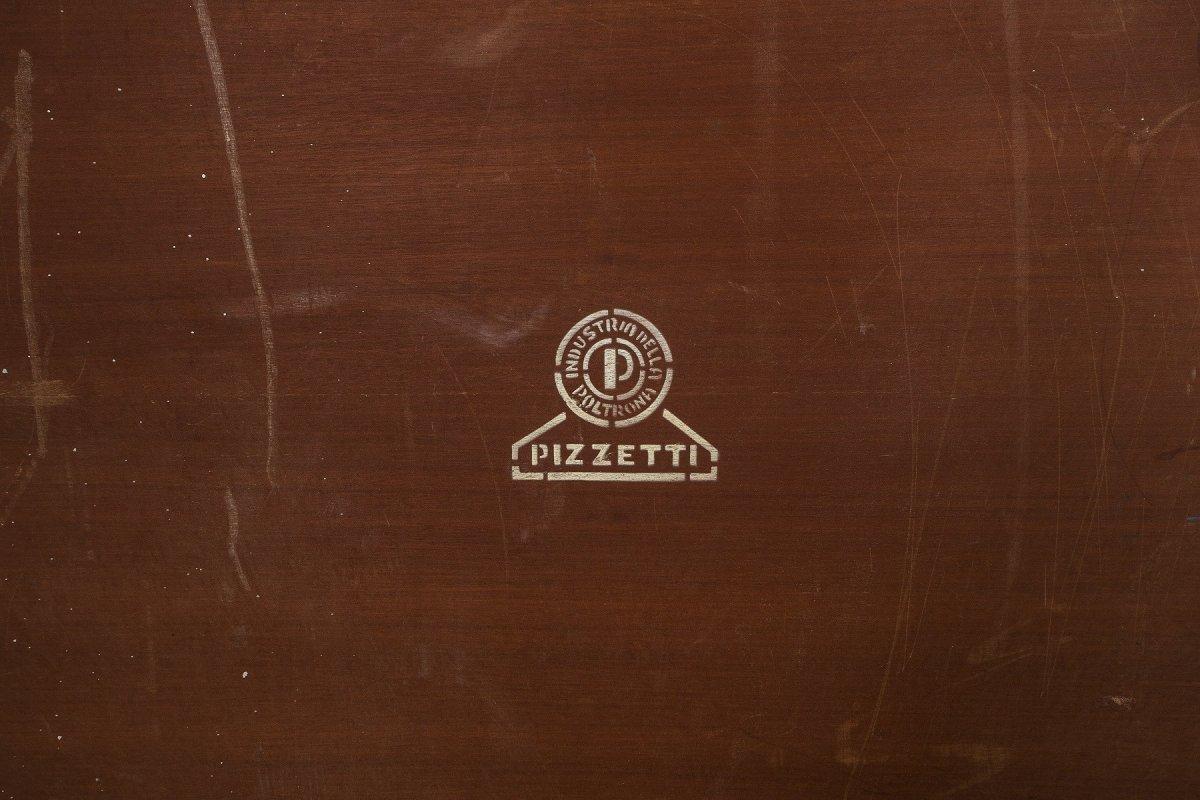 Table Basse 1970 En Palissandre Et Métal Chromé, Produite Par Le Fabricant Italien Pizzetti.-photo-4