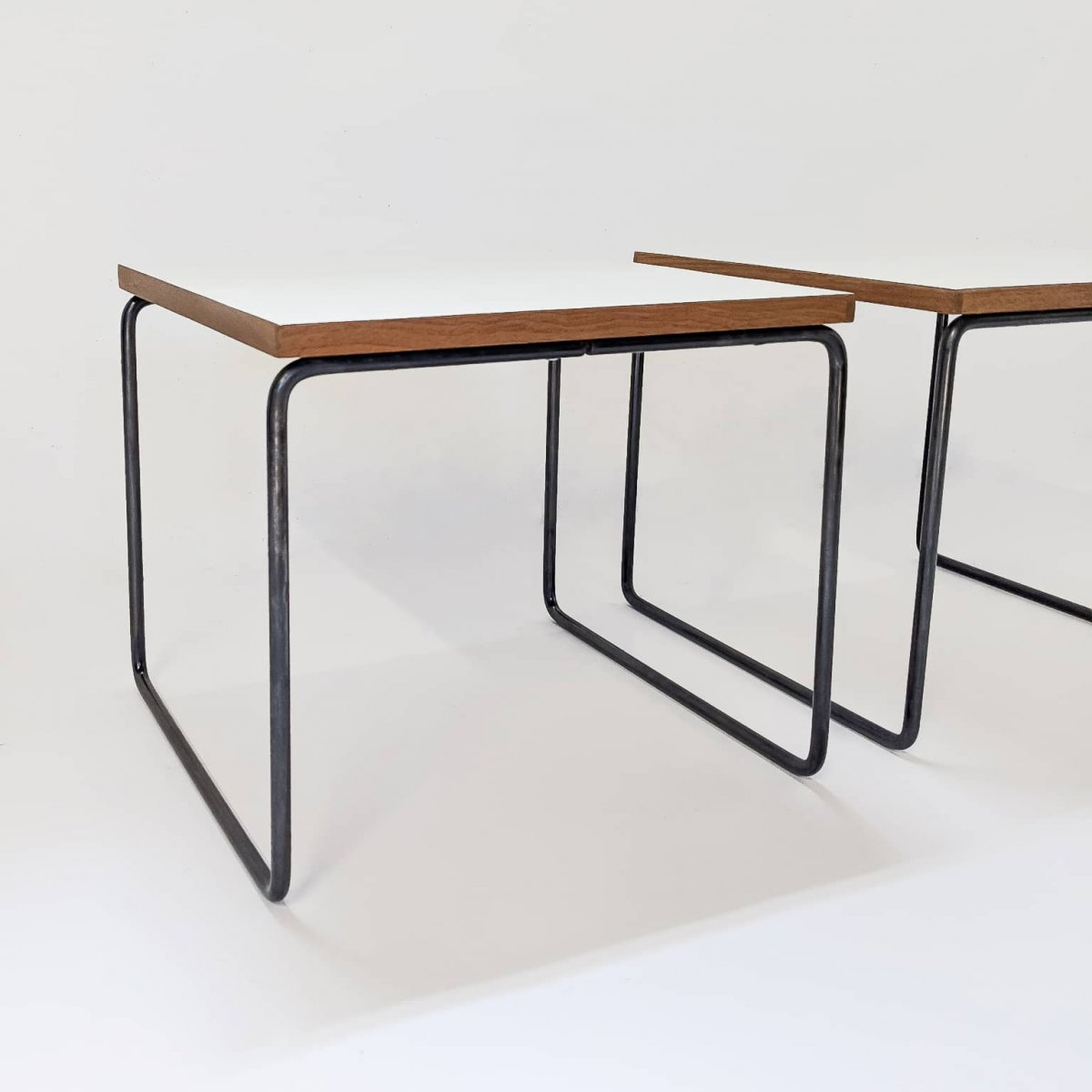 Duo Of Tables By Pierre Guariche, Steiner Edition 1955-photo-2