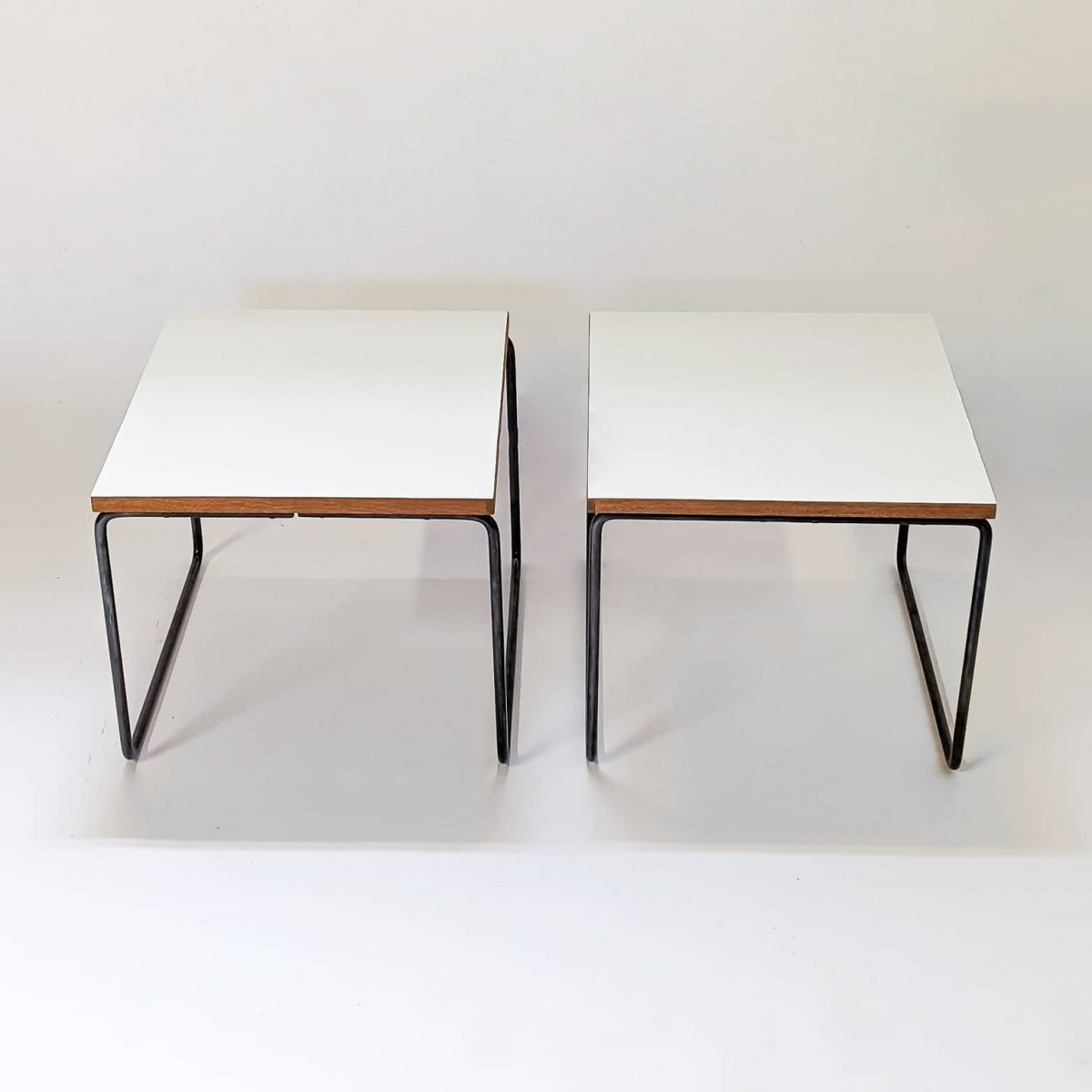 Duo Of Tables By Pierre Guariche, Steiner Edition 1955-photo-3